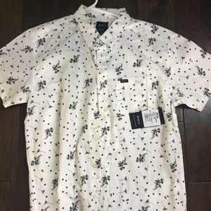 RVCA floral short sleeve button up